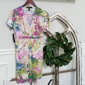 Beautiful Floral Dress with Set In Waistband XS